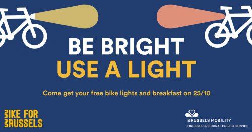 Ontbijt en verlichtingskit voor fietsers