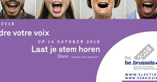 Verkiezingen van 14 oktober 2018: kiezen is actie ondernemen!