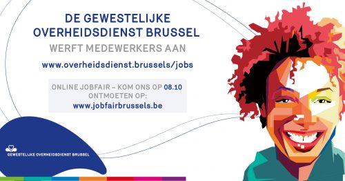 Afspraak op de (online) JOBFAIR Brussels nu donderdag 8 oktober!